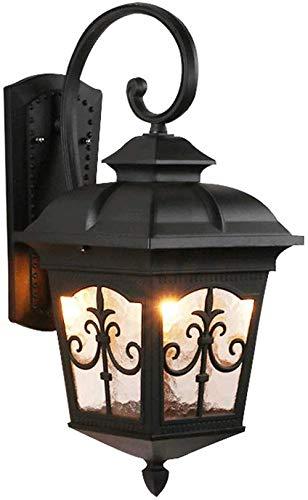 Europese retro land luxe glazen lantaarn E27 mat zwart mooi balkon tuin buitenwandlamp huis buiten hanglamp IP65 waterdichte Villa eetkamer