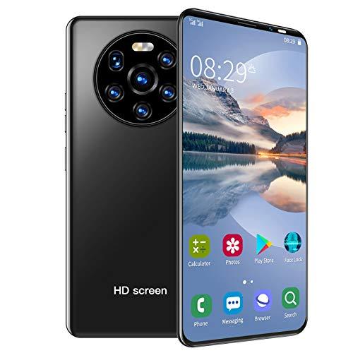 Mate40 Pro Unlock Smartphone, 5.45in HD Full Screen Dual SIM Cards Teléfonos celulares, 512MB + 4GB MTK6572 Teléfono móvil, Batería incorporada de 1500mAh para Android(Negro)