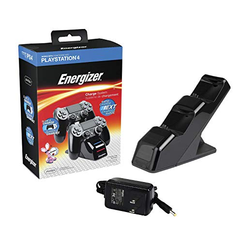 PDP Gaming Energizer Dual Controller Charging System: Black - PS5/PS4