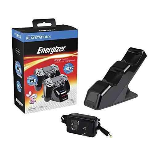 Energizer - Station Chargeur de Manettes Playstation 4 - Noir