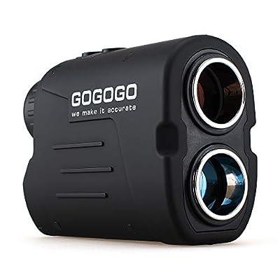 Gogogo Sport Laser Golf/Hunting Rangefinder, 6X Magnification Clear View 650/900 Yards Laser Range Finder, Accurate Scan, Slope Function, Pin-Seeker & Flag-Lock & Vibration, Easy-to-Use Range Finder