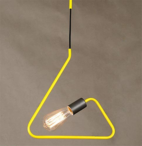 Lámpara de araña lámpara de araña de cabeza única de hierro lámpara colgante LED lámpara de creatividad industrial piso lámpara de dormitorio de sala de estar balcón para E27-Rojo Ama