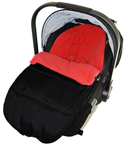 Autositz Fußsack/gemütliche, Zehen kompatibel mit Baby, New Born Autositz Fire Rot
