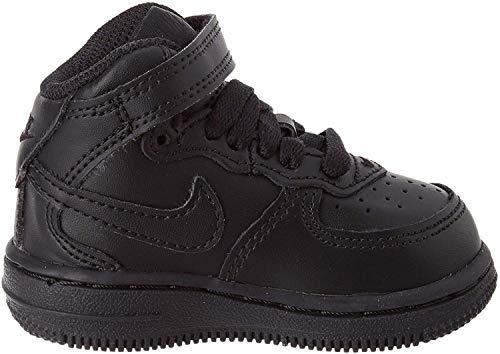 Nike Baby Jungen Force 1 MID (TD) Sneaker, Nero (Black/Black), 25 EU