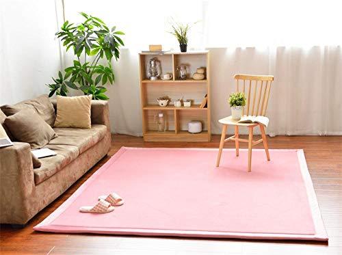 OHHCO Alfombra de refrigeración para sala de estar, dormitorio, ventana, de terciopelo coral, de espuma viscoelástica, color rosa, 200 x 260 cm, para sala de estar (tamaño: 80 x 200 cm)