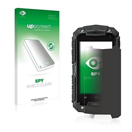 upscreen Spy Shield Clear Blickschutzfolie/Privacy für Cyrus CS 20 (Sichtschutz ab 30°, Kratzschutz, selbstklebend)