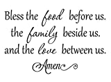 Imposing Design #2 Bless The Food Before us The Family Beside US 22 x 14 Vinyl Wall Quote Sticker Cooking Decor Kitchen Decorative Sticker Motivational Inspirational