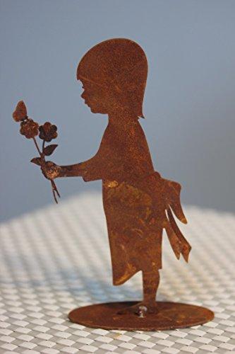 Kind Conny sur socle en métal patiné H 15 cm