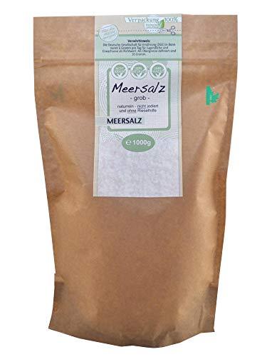 direct&friendly grobes Meersalz perfekt geeignet für die Salzmühle (1kg Bio Doypack)