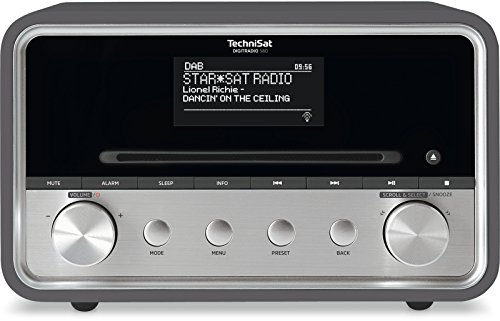 TechniSat DIGITRADIO 580 – Stereo DAB+ Internetradio (CD-Player, WLAN, LAN, DAB, UKW, Bluetooth, Spotify, USB, Wecker, Wifi Streaming, Equalizer, 2 x 10 Watt Lautsprecher) anthrazit
