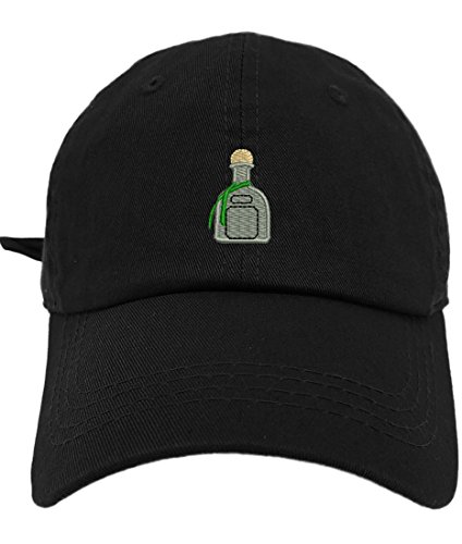 TheMonsta Patron Style Dad Hat Washed Cotton Polo Baseball Cap (Black)