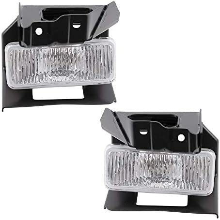 Brock Replacement Driver and Passenger Fog Lights Lamps Bumper Mounted Compatible with 1995 product image