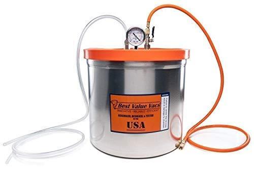 Best Value Vacs 5 Gallon Aluminum Resin Trap Vacuum Chamber