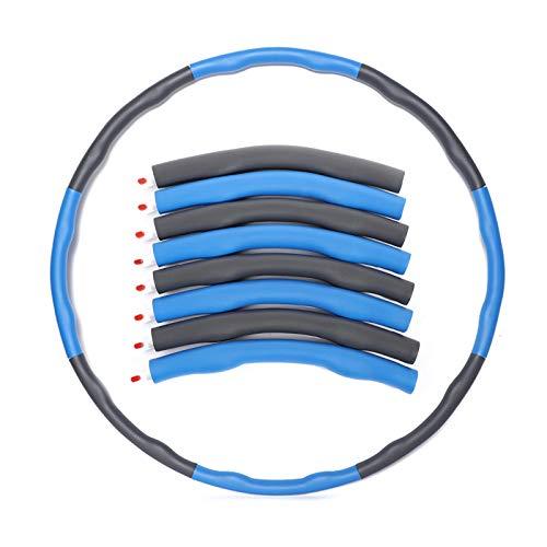 BENEFAST Fitness Hoop Reifen - Hoola Hoop für Erwachsene & Kinder zur Gewichtsabnahme und Massage, Abnehmbarer 10 Segmente Hoop Reifen