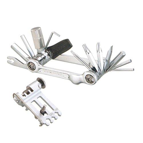 Topeak Unisex– Erwachsene Werkzeugset Mini-Faltwerkzeug 20 Pro Miniwerkzeuge, Silber, 7,6cm