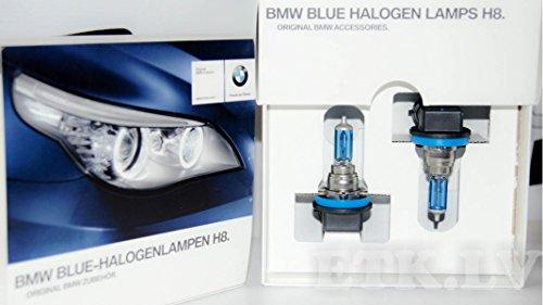 Original BMW Blue Halogenlampen H8 E90 E91 E92 E93 E60 E61 LCI Tagfahrlicht weiß (63112359505)