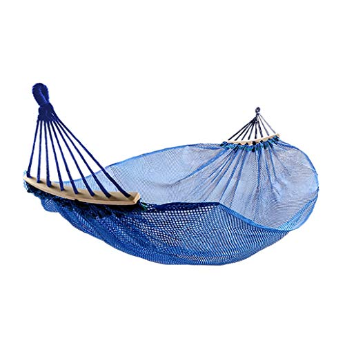 Hamacs Jardin et Patio Extérieur en Soie Respirante Portable À Jardin Multifonctions (Color : Blue, Size : 190 * 150cm)