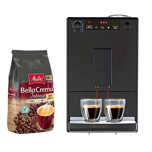 Melitta Caffeo Solo E 950-222 Kaffeevollautomat pure black + Melitta BellaCrema Intenso Ganze Kaffeebohnen