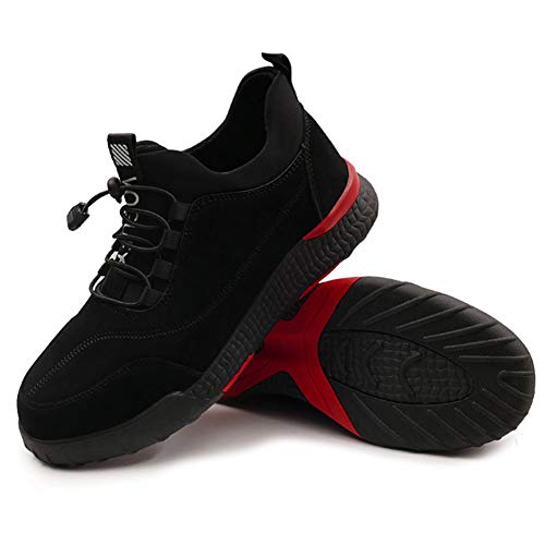Syfinee - Zapatos de Trabajo para Hombre, Uso intensivo, Antideslizantes, Transpirables, Caja Fuerte Protectora, 42