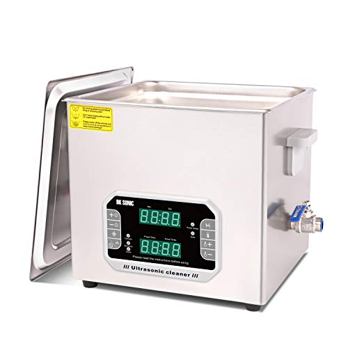 DK SONIC 15L Large Touch Ultrasonic Cleaner with Heater,Timer,Multiple Cleaning Mode for Carburetor,Automotive Parts,Gun Parts,Circuit Board,etc