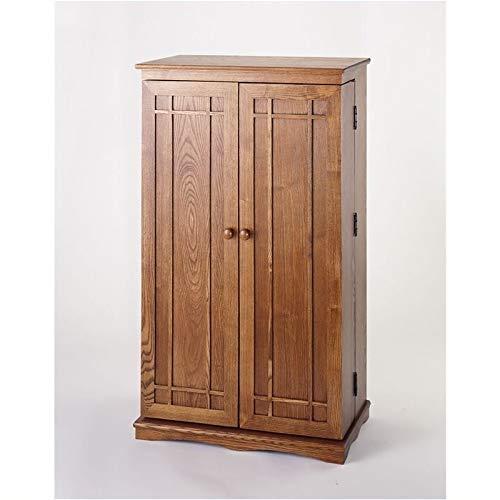 Pemberly Row 40' CD DVD Media Storage Cabinet in Dark Oak