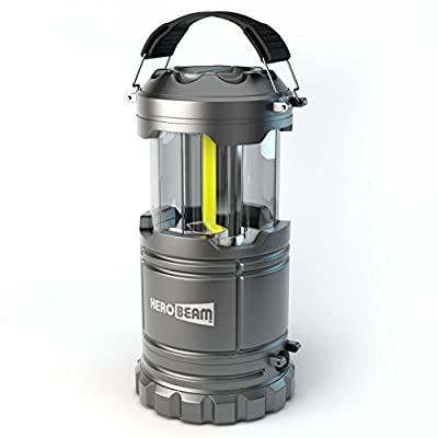 HeroBeam LED Lantern V2.0 with Flashlight - The Original & Best Lantern/Flashlight Combo - Latest COB Technology (350 Lumens) - Great Light for Camping, Car, Shop, Attic, Garage etc.
