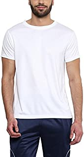 Sunstar Uniforms Men's Round Neck Polyester Sports T-Shirt Gym tee, Dry Feel Tees