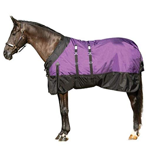 STORM SHIELD Horse Turnout Blanket - Light Play | Lightweight - 80 Grams | Purple - Size 80 | 1200 Denier | Contour Collar | Bellyband Closure | Waterproof, Windproof & Breathable