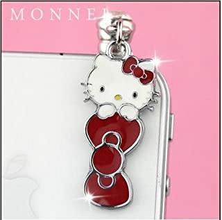 547db01d21 Red Bow Hello Kitty Dust Plug-Earphone Jack Accessories for Iphone 4 4s ipad