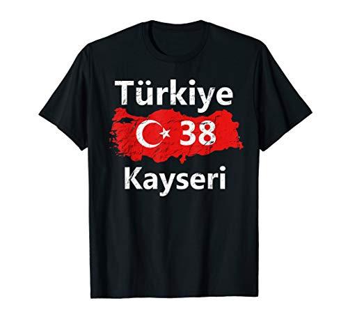 Türkei 38 Kayseri T-Shirt Ayyildiz Türkiye Tshirt Geschenk