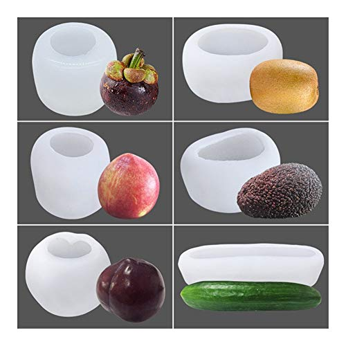 Heinside Einfach Avocado-Silikon-Form for Kerze Praline-Mousse-Kuchen-Backen-Form handgemachte DIY Seifenherstellung Mold Hitzebeständig (Color : Army Green)