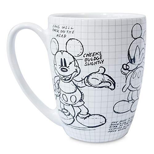 Disneyland Paris Taza blanca con diseño de Mickey Mouse Sketch