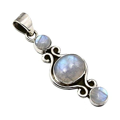 Unique colgante para la mujer piedra de luna plata de ley 925 joyeria de calidad