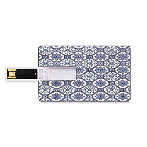 8GB USB-Flash-Thumb-Laufwerke arabisch Bank Kreditkarte Form Business Key U Disk Memory Stick Speicher Arabesque Floral Oriental Persian afghanischen mittelalterlichen Barock Fliesen Formen Stammes-A