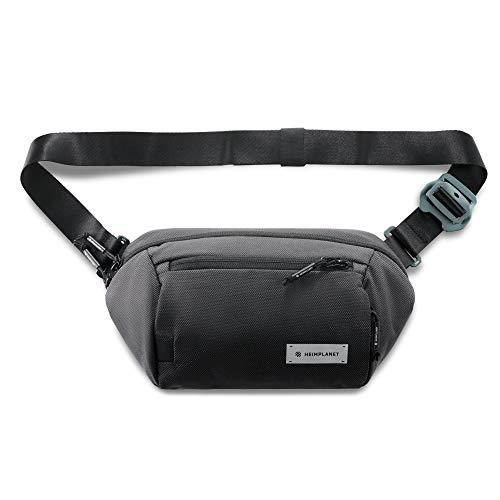 HEIMPLANET Original | Transit Line Sling Pocket XL | Wasserfeste Hüfttasche aus hochwertigem DYECOSHELL mit Aluminiumverschluss | Unterstützt 1% for The Planet