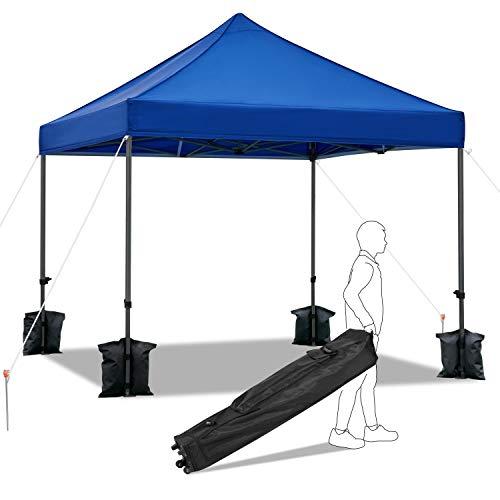 Yaheetech Pavillon 3x3m Gartenzelt wasserdicht Festzelt Pop-up Zelt 442g/m² UV-Schutz 50+ Partyzelt höhenverstellbar Faltpavillon für Garten, Terrasse, Markt