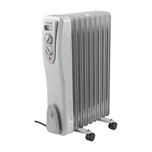 AMOS 9-Fin 2000W Oil Filled Radiator 3 Heat Settings with...