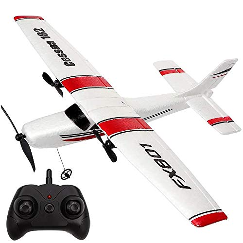 PLRB TOYS RC Plane 2.4Ghz 2 Channels RTF RC Airplane, RC Aircraft with 3-Axis Gyro for Beginner Easy to Fly EPP Glider Toys (Wingspan 350mm)