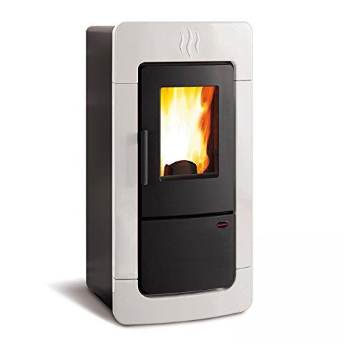 Stufa termostufa a pellet Diadema ACS Idro La Nordica Extraflame Bianco