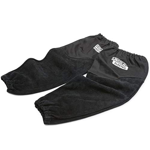 Lincoln Electric Welding Sleeves | Split Leather & Flame Resistant (FR) Cotton | Heat Resistance & Durability | K3111-ALL
