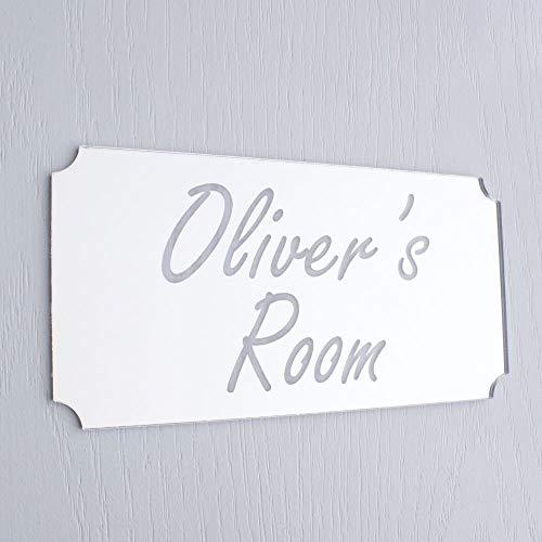 Targa per porta camera da letto, con angoli arrotondati, per ragazzi e ragazze, cartello per camera