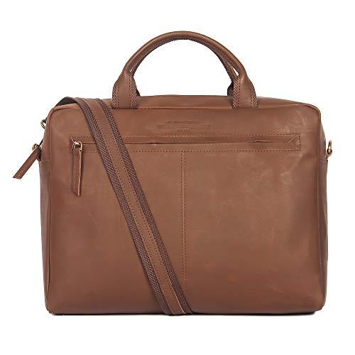 13 - 13.3 inch vintage Leather Sleek Handmade Sleeve | Shoulder bag | Messenger Bag | Office Briefcase compatible with MacBook Ultrabook Chromebook Notebook - Dark Brown by The Leather Warehouse