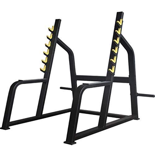 YLJYJ Rack de sentadillas para levantamiento de pesas, jaula multifuncional para sentadillas, para el hogar, profesional, para sentadillas, gimnasio, pesas, equipo de fitness, entrenamiento de fuerza