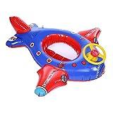 Baby-Schwimmringe mit Pumpen-aufblasbaren Flugzeug-Baby-Kinderkleinkind-Baby-Schwimmen-sich hin- und herbewegenden Booten