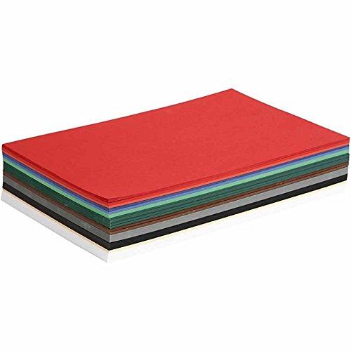 Weihnachtskarton/Bastelkarton/Tonpapier - 10 verschiedene Farben - artdee® (DIN A4-30 Blatt)