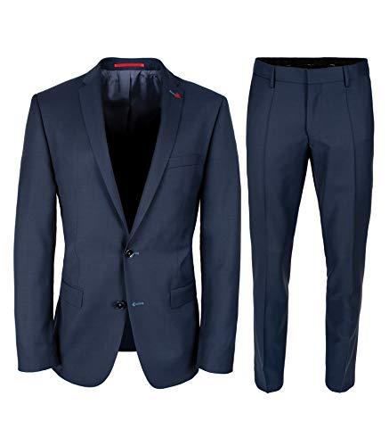 Roy Robson Herren Anzug 2-teilig aus Schurwolle Super'100 Business Abendanzug - Set, Navy, 54
