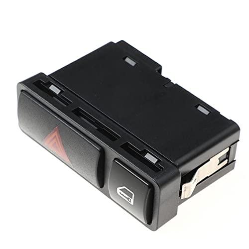KUANGQIANWEI Interruptor de luz Flash de Emergencia Interruptor Pushard Warnnnnng Interruptor de Bloqueo de luz de Encendido/Apagado Ajuste para BMW 3 Series E46 61318368920