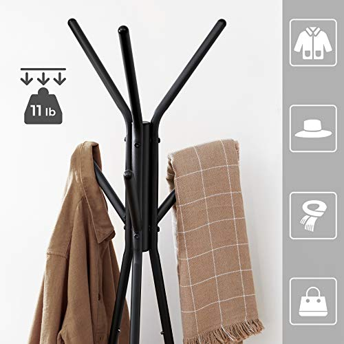 Coat Rack Stand Greige and Black