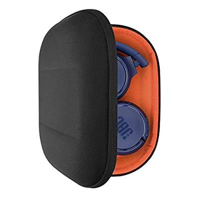 Geekria UltraShell Headphones Case for JBL Tune 600 BTNC, Live 400BT, Tune 500BT, T450BT, E45BT Headphone and More, Protective Hard Shell Travel Carrying Bag with Room for Accessories (Black) by GEEKRIA