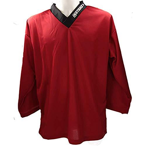 Instrike Trainings-Trikot Eishockey Spieler L rot Jersey Hockey Training für EIS und Inline hochwertiges Profi Funktions